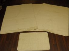 ROMANY GYPSY WASHABLE 4PC SETS NON SLIP TRAVELLERS MATS LARGE CREAM NON SLIP NEW